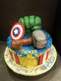 Avengers Cake from Walmart Cakes cupcakes and more