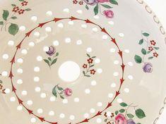 Antique French Floral Ironstone Sponge Drainer Dish Toilete
