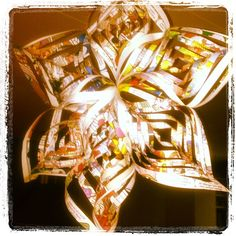 star of reused paper