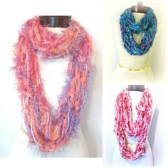 Oaklies Fashions Hand Knit Infinity Scarves @onfire4handmade