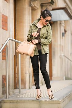 Casual Stroll :: Cargo jacket at http://www.bloglovin.com/thecoolcollections www.thecoolcollections.com