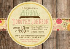 Rustic Bridal Shower Invitations - Mixed Type Printable Invitations. $24.00, via Etsy.