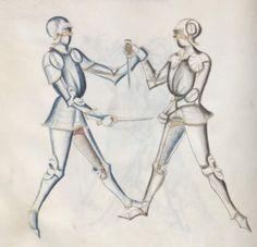 Kal, Paulus: Fechtbuch, gewidmet dem Pfalzgrafen Ludwig Bayern, 2. Hälfte 15. Jh. (nicht nach 1479) Cgm 1507 Folio NP