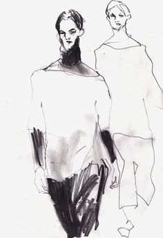 Online portfolio for Joshua Osborn's Fashion, illustration and reportage work Fashion Illustration Sketches, Fashion Sketchbook, Fashion Design Sketches, Sketch Design, Graphic Illustration, Fashion Images, Fashion Art, Fashion Portfolio Layout, Fashion Figures