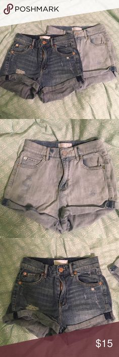 High Waisted Garage Shorts 2 pairs of high waisted shorts from Garage. Both worn only 2 or 3 times, still in good condition. Both are same style (Retro High Waist Short). If you only want one pair, leave a comment and I'll make a separate listing! Garage Shorts Jean Shorts