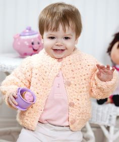 Crocheted Baby Sweaters On Pinterest Baby Sweaters Baby