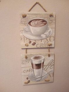 Coffee Home Decor Cappuccino Housewares Decor Kitchen Wall Decor Decoupage Hanging Gift for Kitchen Handmade Decor Gift Ideas House Gift Handmade Home Decor, Handmade Decorations, Cuadros Diy, Local Craft Fairs, Black Kitchen Cabinets, Wall Decor Set, Scrap Material, House Gifts, Decorative Items