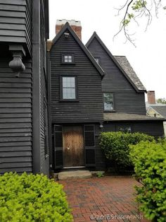 The House of The Seven Gables Dormer Bungalow, Front Door Porch, Home Renovation, Black House, House Colors, Wrought Iron, New England, Brave, North America