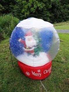 4' SANTA & REINDEER SKATING ROTATING Light Up Christmas INFLATABLE YARD Blow Up