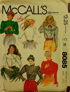 1990s Ruffled Victorian Look Blouse McCall's by patterntreasury, $13.95