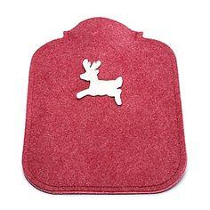 Wärmeflasche mit Filzbezug Pot Holders, Stag And Doe, Red Felt, Die Cutting, Valentines Day, Hot Pads, Potholders