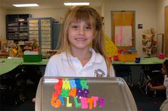 Alphabet magnets and cookie sheets...use for spelling word practice