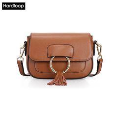 (37.97$) Buy here - Hardloop Fashion Tassel Genuine Leather Crossbody Bag Small Mini Women Messenger Bags Zipper Female Bags Women Flap Habo