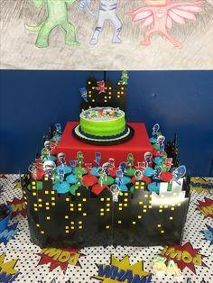 PJ Masks Birthday - DIY Cupcake/Cake Stand!