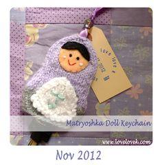 love, k: Matryoshka Doll Keychain