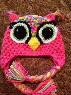 Ravelry: Project Gallery for Little Hoot Owl Hat Pattern (US and UK Terms Available), 7 Sizes from Newborn to Adult pattern by Ruth McColm