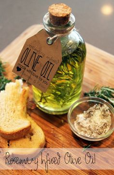 Rosemary Infused Olive Oil. I want to do a roasted garlic & rosemary also!
