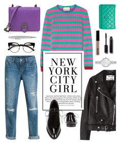 """Colorful Geek Chic..."" by glamorous09 on Polyvore featuring Gucci, Acne Studios, Bottega Veneta, Bomedo, Loeffler Randall, White House Black Market, Karl Lagerfeld, Chanel, Kate Spade and Giuliano Mazzuoli"