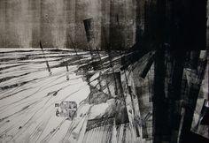 "Saatchi Online Artist: Michael Lentz; Monotype, 2012, Printmaking ""Paisaje ideal para Manuela No. 110"""