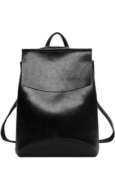 PU Leather Cover Solid Color Satchel 3f2e37c12b3