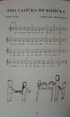 Nápadníček – písničky – ZŠ a MŠ Vír Easter Activities For Kids, Kids Songs, Piano Music, Teaching, Easter Activities For Children, Nursery Songs, Education, Onderwijs, Learning