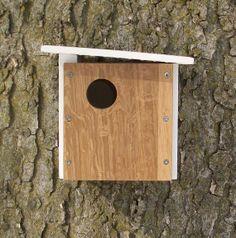 Modern Wood Birdhouse / Nest Box / White Oak / One-of-a-Kind $46.00