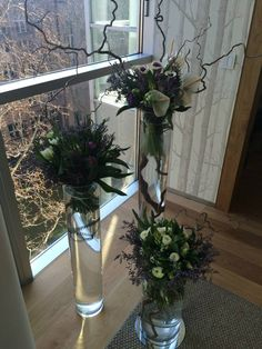 Violet and white combination of spring flowers by ROSMARINO