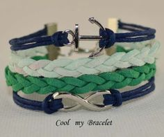 Handwoven personality infinite ship anchor by Coolmybracelet, $3.99