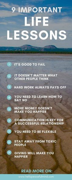9 important life lessons