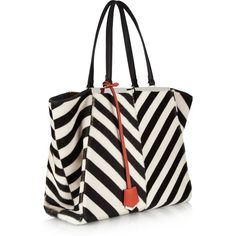 Fendi Striped shearling and calf hair tote and other apparel, accessories and trends. Browse and shop 7 related looks.