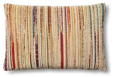 Distressed 24x16 Pillow, Multi