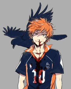 Haikyuu!! ~~ Hinata, you're getting blood on your jersey. Stop staring at Kageyama's ass. Um, Hinata? Are you listening?