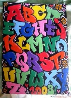 Graffiti alphabet letters a through z full color. Graffiti with a beautiful iridescent colors. Graffiti style cool with a capital letter. Graffiti Creator, Best Graffiti, Graffiti Tagging, Graffiti Styles, Street Art Graffiti, Graffiti Lettering Alphabet, Graffiti Artwork, Alfabeto Graffiti, Wildstyle