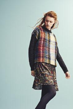 Holzweiler AW15 Collection - Fresia Holz Royal Sweater + Peacock Scrapyard Dress