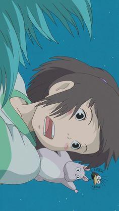 Anime Aesthetic Wallpaper Spirited Away Hayao Miyazaki, Film Anime, Manga Anime, Anime Art, Studio Ghibli Art, Studio Ghibli Movies, Personajes Studio Ghibli, Studio Ghibli Spirited Away, Spirited Away Art