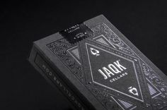 Black JAQK Playing Cards. Limited Edition