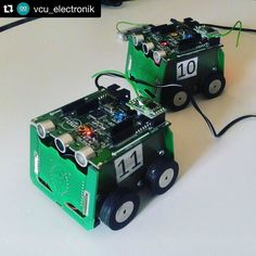 Playing with mobile #robots #miniSUMO MAOR-12T at school  #electronics #atmega8 #arduino @vcu_electronik #leanstagramm #tech #leantodayyprojects #maker by leantodayy