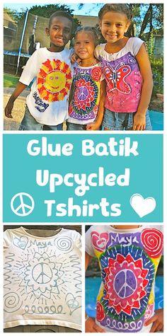Découvrir la technique du batik (peinture sur tissus) - Batik T-shirts for Kids- Kid World Citizen