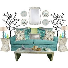 """A Little Bit Retro"" created by #shanahan180, #polyvore interior design"