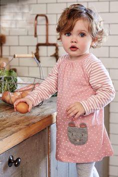Girls Stripes and Polka Dots 2 pc. Animal Set: Fox or Mouse Style - - Girls Stripes and Polka Dots 2 pc. Animal Set: Fox or Mouse Style. So Cute Baby, Baby Kind, Cute Kids, Cute Babies, Fashion Kids, Baby Girl Fashion, Toddler Fashion, Fashion 2016, Fashion Wear
