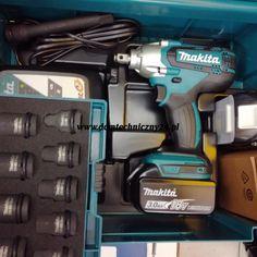 zakretarka udarowa makita o symbolu dtw 190 na akumulator 18v w zestawie dostajemy jedną przedłużkę udarową i zestaw nasadek. Makita, Drill, Tools, Hole Punch, Instruments, Drills, Drill Press