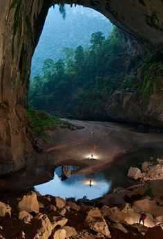 """Hidden in the depths of the Vietnamese jungle lies The Hang Son Doong, part of a network of over 150 caves. Surrounded by jungle and used in the Vietnam war as a hideout from American bombardments, the cave passage is so large that it could hold a block of 40-storey skyscrapers."""
