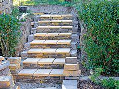 Stavba záhradných schodov 18