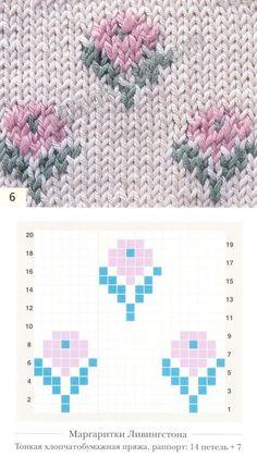 Fair Isle Knitting Patterns, Knitting Charts, Sweater Knitting Patterns, Knitting Stitches, Knitting Designs, Knitting Projects, Wool Embroidery, Embroidery Patterns, Crochet Patterns