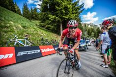 Photo Essay: 2014 Giro d'Italia, the road to Trieste - As many other riders suffered in the race up the Zoncolan, Lotto-Belisol rider Adam Hansen created his own light-hearted distraction in playing to the fans… and to the camera. (Stage 20) Photo: BrakeThrough Media | brakethroughmedia.com