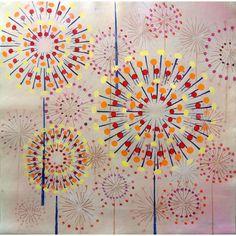 Modern Gallery Abstract Fireworks Wall Art