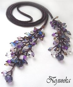 Rope Necklace, Flower Necklace, Crochet Necklace, Beaded Necklace, Bead Crochet Rope, Beaded Jewellery, Seed Beads, Tassels, Gifts For Her