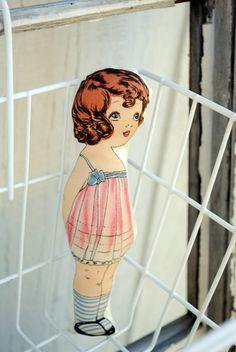 Vintage Inspired Cloth Paper Dolls $11