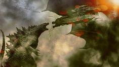 Godzilla Vs, Dragon Art, King Kong, How Train Your Dragon, Jurassic World, Horror, Painting, Shadow Dragon, Robots