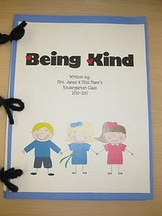 Kinder did lessons on kind words and un-kind words and then we wrote about being kind